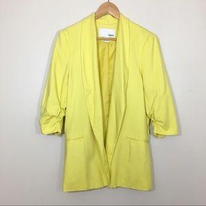 Bar III Yellow Cinched 3/4 Sleeve Blazer